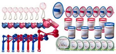 Baseball Favor Value Pack with 48 pieces