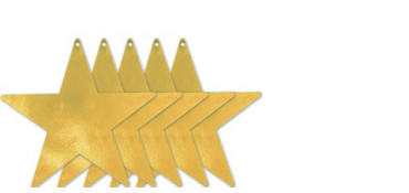 Extra-Large Gold Star Cutouts 5ct
