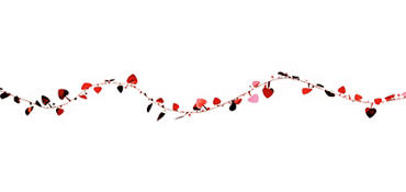Red Hearts Wire Garland