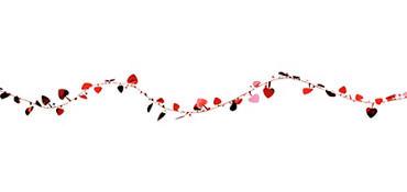 Red Hearts Wire Garland