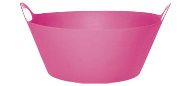 Bright Pink Plastic Party Tub