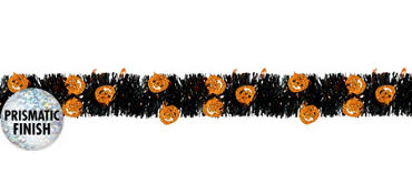 Prismatic Pumpkin Halloween Garland 9ft