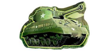 Camouflage Birthday Balloon - Tank
