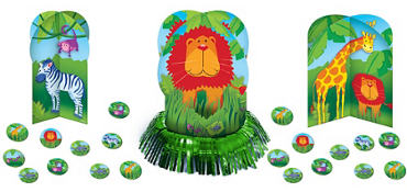 Jungle Animals Table Decorating Kit 23pc