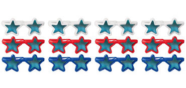 Red, White & Blue Star Sunglasses 12ct