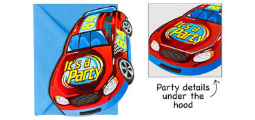 Premium Race Car Invitations 8ct