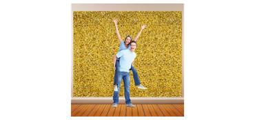 Gold Metallic Floral Sheeting 15ft