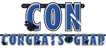 Royal Blue Graduation Letter Banner