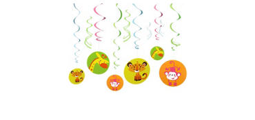 Fisher Price Hanging Swirl Decorations 12ct