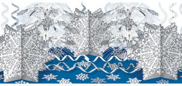 Ultimate Snowflakes Table Decorating Kit 88pc