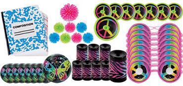 Neon Doodle Favor Pack 48pc