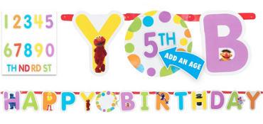 Sesame Street Letter Banner 10ft