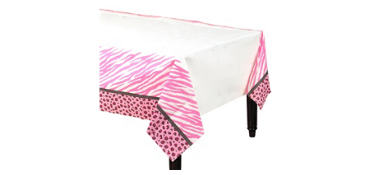 Pink Safari Baby Shower Paper Table Cover
