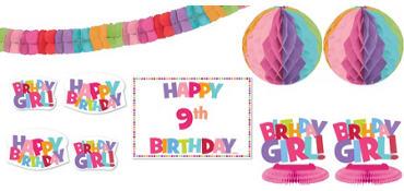 Add an Age Girl Birthday Room Decorating Kit 12pc