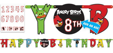 Angry Birds Letter Banner 10ft
