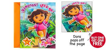 Premium Dora the Explorer Invitations 8ct