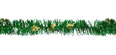 Gold & Green Tinsel Garland