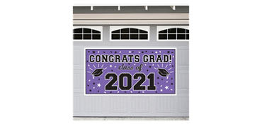 Purple 2013 Graduation Banner 65in
