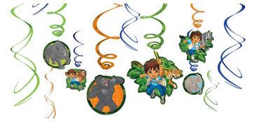 Go, Diego, Go! Swirl Decorations 12ct