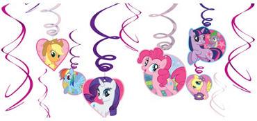 My Little Pony Swirl Decorations 12ct