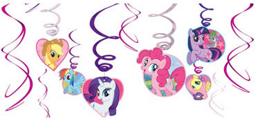 My Little Pony Swirl Decorations 12ct