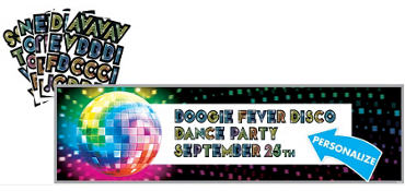 Disco Fever Personalized Banner