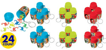 Green Toy Story Monkey Game Key Chains 24ct