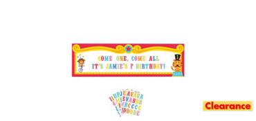 Customizable Fisher-Price 1st Birthday Circus Banner Kit