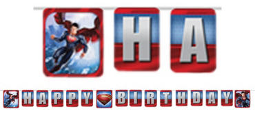 Superman Letter Banner 6ft