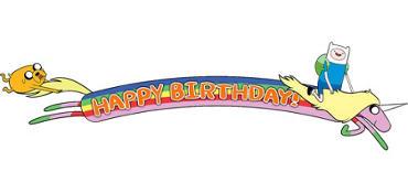 Adventure Time Birthday Banner 5ft