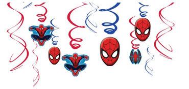 Spider-Man Swirl Decorations 12ct