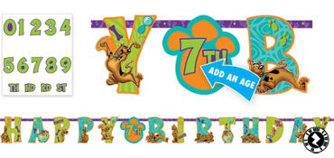Scooby-Doo Birthday Banner