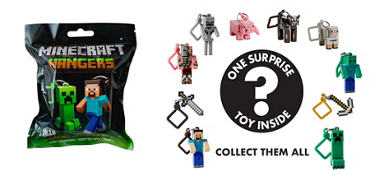 Minecraft Keychain Mystery Pack
