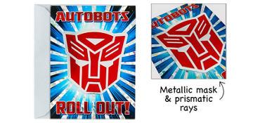 Premium Prismatic Transformers Invitations 8ct