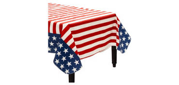 Patriotic Flannel-Backed Vinyl Table Cover