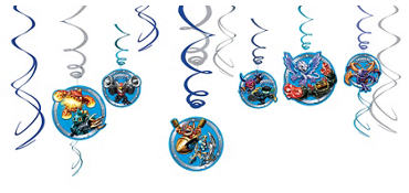 Skylanders Swirl Decorations 12ct