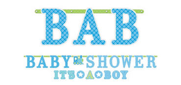 Welcome Baby Boy Baby Shower Letter Banners 2ct