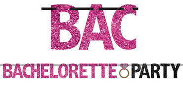 Glitter Bachelorette Party Letter Banner