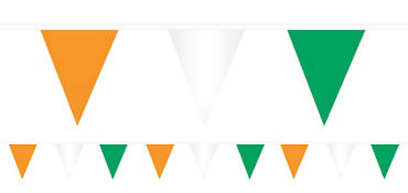 Green, White & Orange Pennant Banner