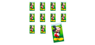 Jumbo Mickey Mouse Stickers 24ct