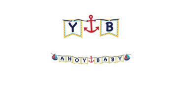 Ahoy Nautical Baby Shower Letter Banner
