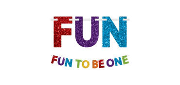 Glitter Fun to Be One 1st Birthday Letter Banner