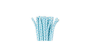 Caribbean Blue Diamond Paper Straws 24ct
