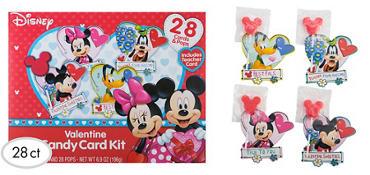 Mickey Mouse Exchange Cards with Lollipops 28ct