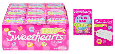 Sour Sweethearts Tiny Conversation Hearts 36ct