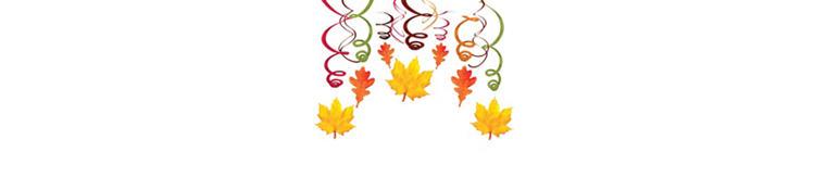 Fall Hanging Swirl Decorations 30ct