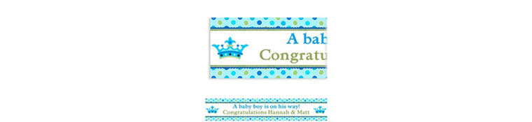 Custom Little Prince Baby Shower Banner 6ft