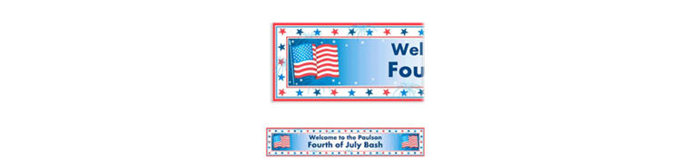 Custom Star Spangled Patriotic Banner 6ft