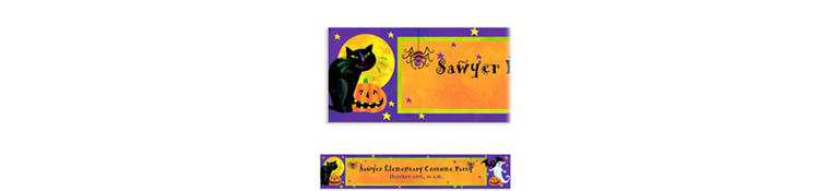 Custom Gruesome Group Halloween Banner 6ft