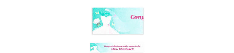 Something Blue Custom Bridal Shower Banner